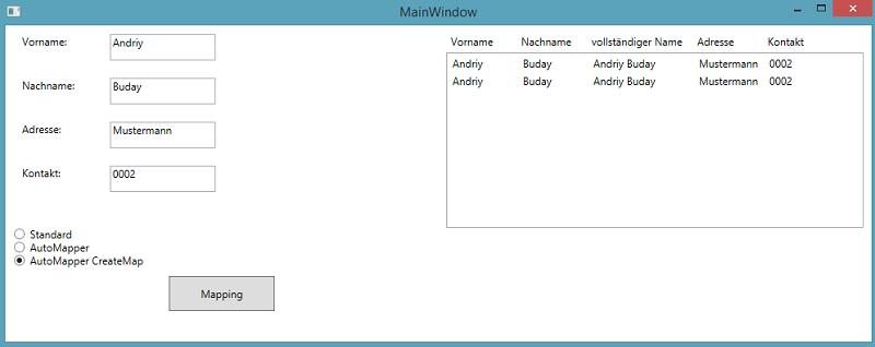 Automapper Benutzerdefinierte Eigenschaft Mapping-software